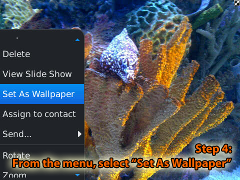 Using Wallpapers on your BlackBerry