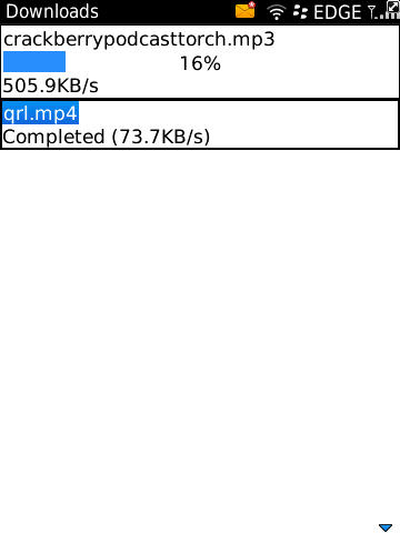BlackBerry 6 Large File Sizes