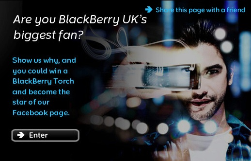 BlackBerry UK biggest fan