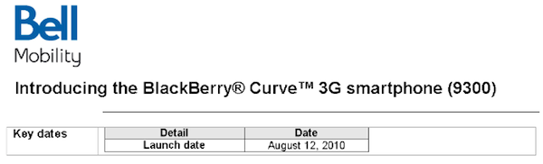 Bell Mobility Curve 3G