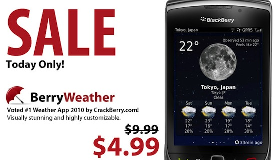 CrackBerry BerryWeather Deal of the Day