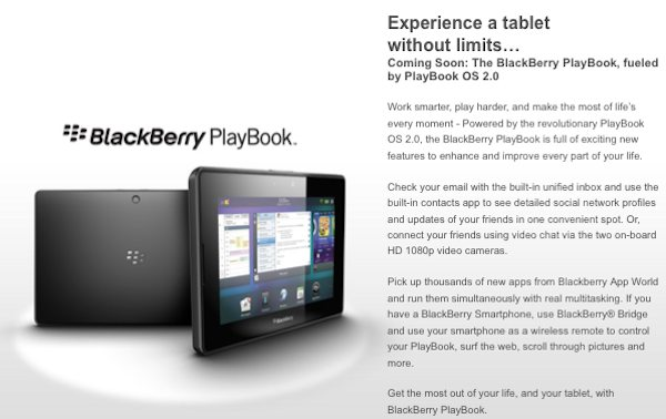 Best Buy BlackBerry PlayBook
