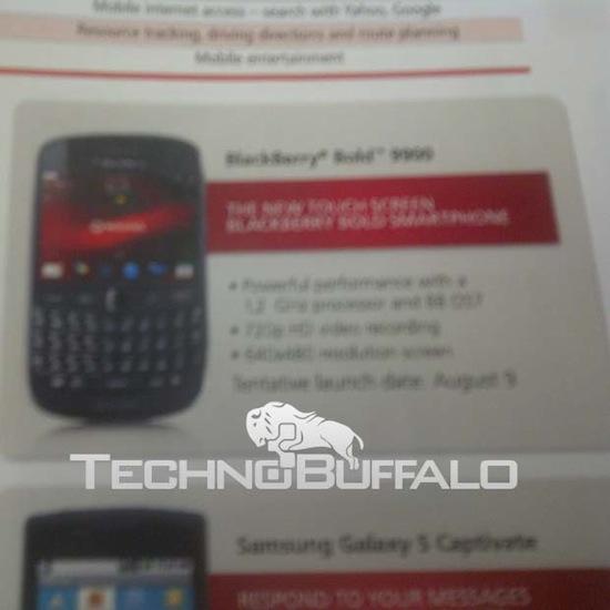BlackBerry Bold 9900 Rogers