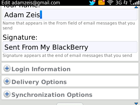 BlackBerry BIS email signature