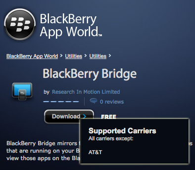 BlackBerry Bridge AT&T
