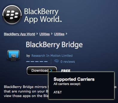 BlackBerry Bridge AT&T