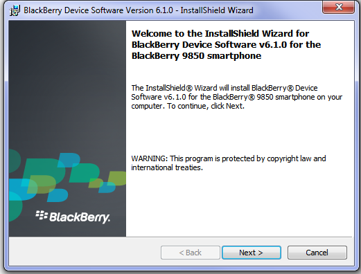BlackBerry Desktop Manager 6.1