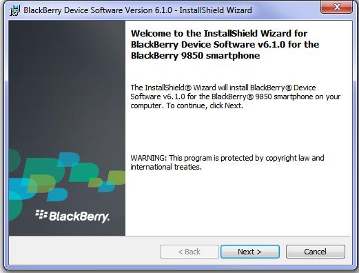 BlackBerry Desktop Manager 6.1