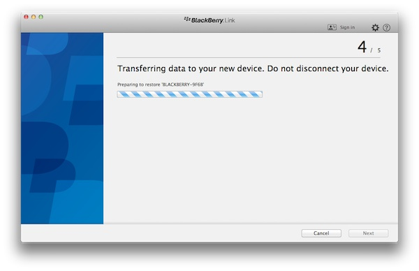 BlackBerry Link Transfer