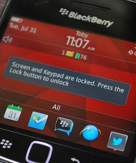 BlackBerry Lock Screen