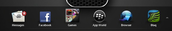 BlackBerry PlayBook 2.0 Home Screen Dock