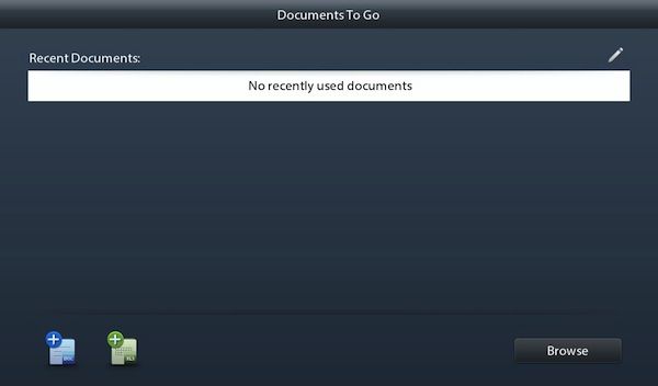 BlackBerry PlayBook 2.0 Docs To Go