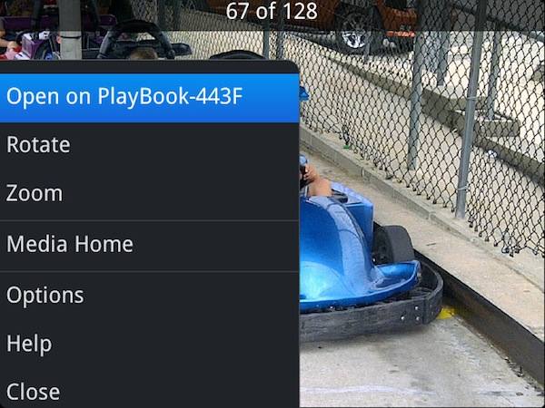 BlackBerry PlayBook 2.0 Open On