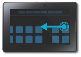 BlackBerry PlayBook Gestures and Navigation