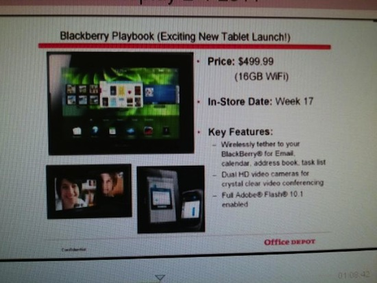 BlackBerry PlayBook Office Depot
