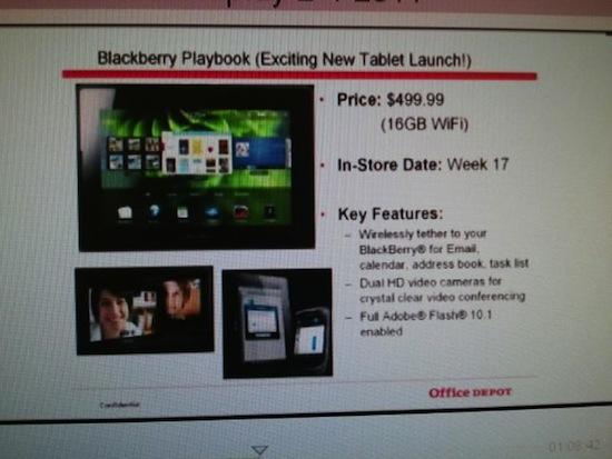 BlackBerry PlayBook Office Depot