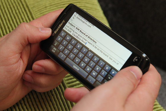 BlackBerry Torch 9860 Virtual Keyboard
