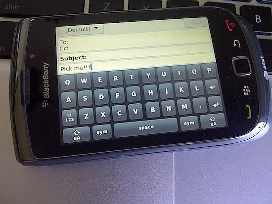 BlackBerry Torch 9800 Keyboard
