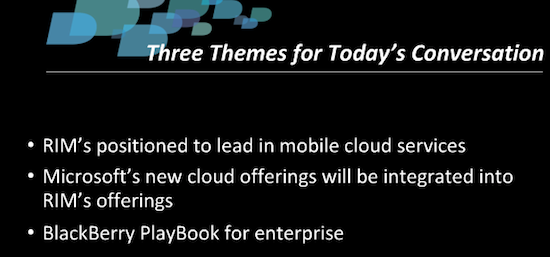 BlackBerry for Business Webcast