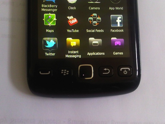 BlackBerry 9860 Buttons