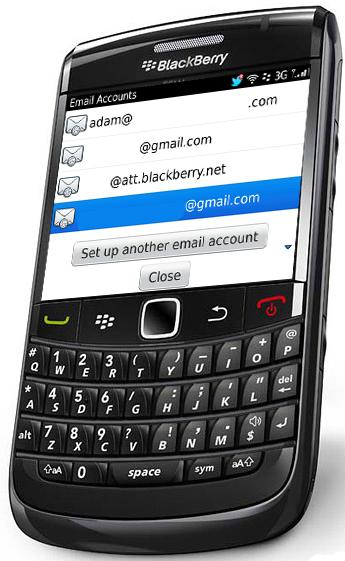 BlackBerry Bold 9780 Email Setup
