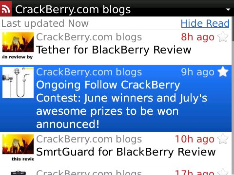 BerryReader for BlackBerry