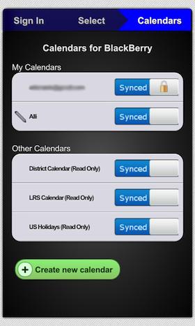BlackBerry 10 Calendar Sync