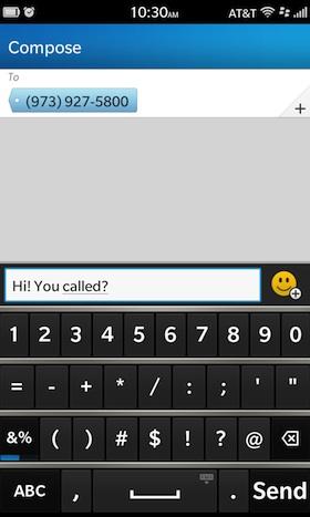 Compose SMS