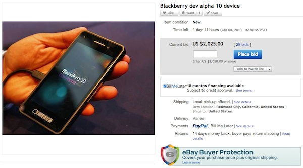 Dev Alpha eBay