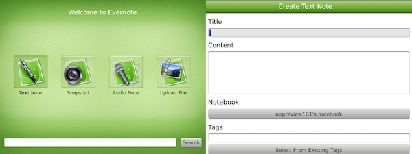 Evernote for BlackBerry