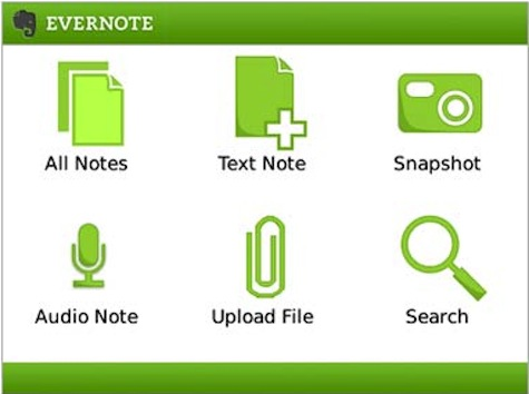 Evernote BlackBerry