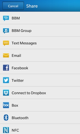 BlackBerry 10 File Manager