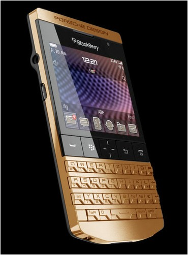 Gold Plated BlackBerry P9981