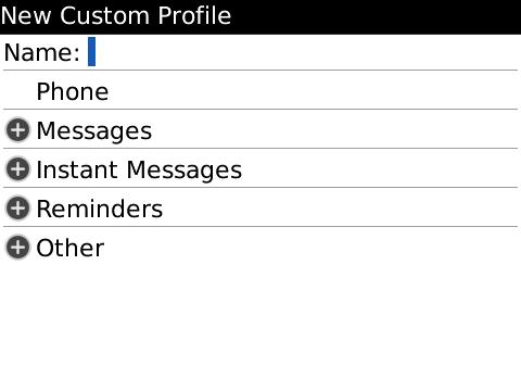 Custom Profiles