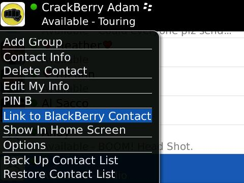 Linking Contacts