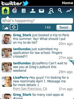 Twitter for BlackBerry v1.1