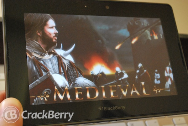 Medieval BlackBerry PlayBook