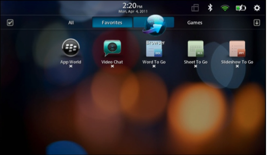 BlackBerry PlayBook Personalization