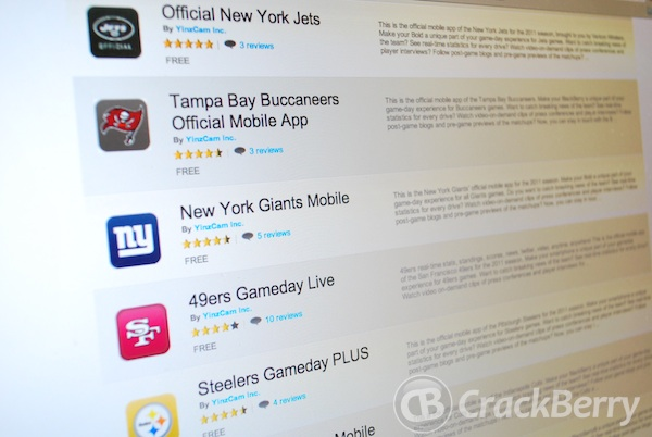 NFL Mobile Apps