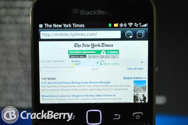 NYTimes BlackBerry