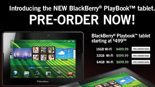 Office Depot BlackBerry PlayBook Preorder