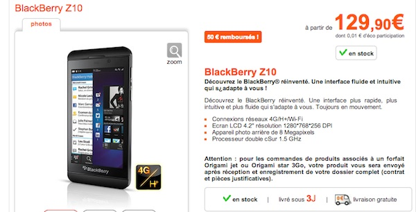 Orange BlackBerry Z10