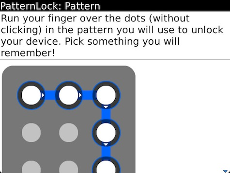 PatternLock BlackBerry