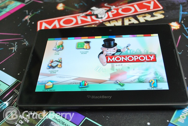 BlackBerry PlayBook Monopoly
