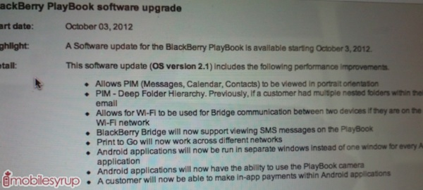 PlayBook OS update