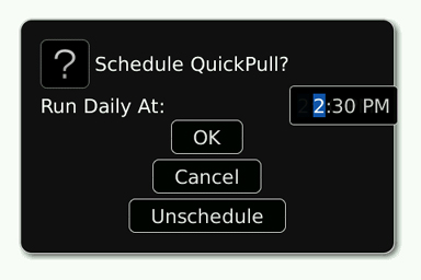 QuickPull Basic Scheduling