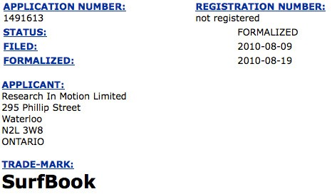 SurfBook Trademark