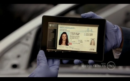 BlackBerry PlayBook Rizzoli and Isles