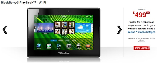 BlackBerry PlayBook Rogers