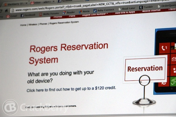 Rogers BlackBerry 10 Reservations